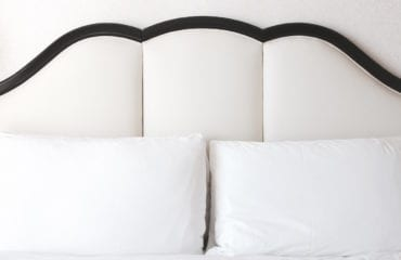 Stylish hotel bed headboard